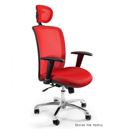 Unique Expander Fotel biurowy, czerwony W-94-2
