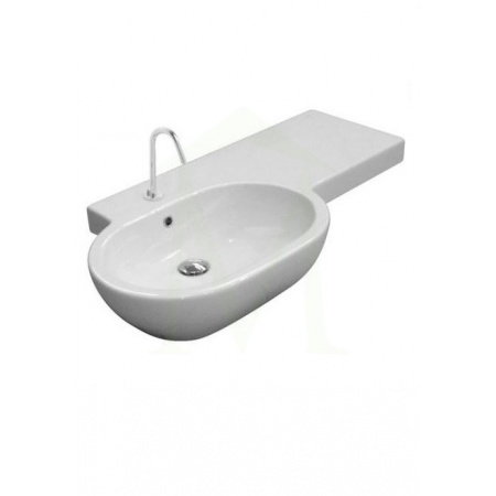 Globo Bowl Umywalka meblowa lewa 100x52cm, biała SC100D.BI