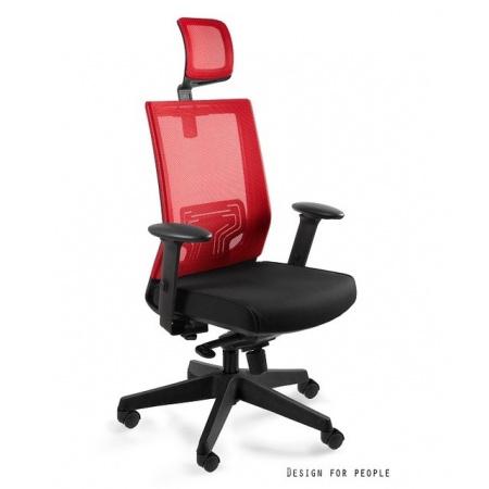 Unique Nez Fotel biurowy, czerwony W-879K-MESH35