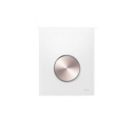 Tece Loop Przycisk spłukujący ze szkła do pisuaru - szkło zielone/przyciski stal szlachetna szczotkowana 9.240.661