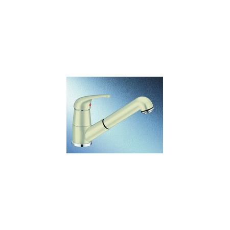 Blanco Vitis-S Silgranit-Look Bateria kuchenna z wyciąganą wylewką kremowa jaśminowa 515371