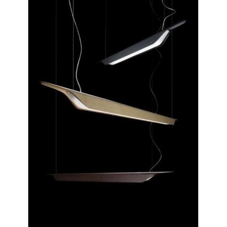 Foscarini Troag Piccola Lampa wisząca 125x8,5 cm, czarna 2050072 20