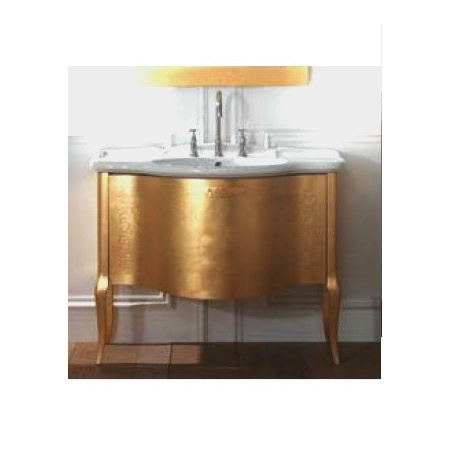 Globo Paestum Szafka stojąca z umywalką 104x60 cm, złota PA0226X