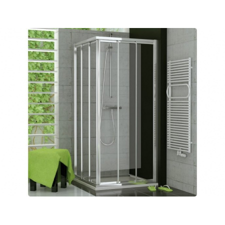 Ronal Top-Line Kabina prysznicowa, wejście narożne trzyczęściowe, część 1/2 - Mocowanie prawe 70 x 190cm Chrom Szkło Master Carre (TOE3D07005030)