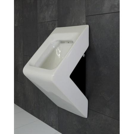 Art Ceram La Fontana Pisuar ścienny 33x29xH62 cm biały, bok czarny S15B / LFO00101;50