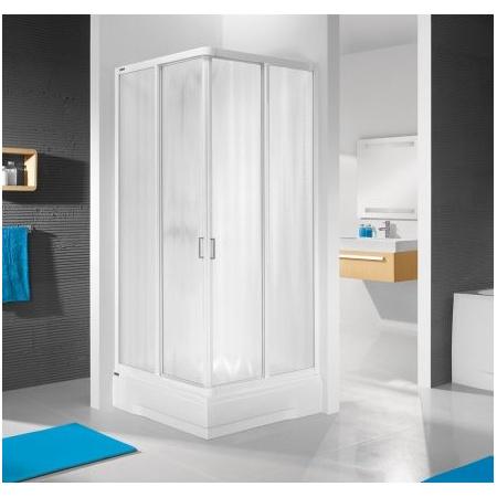 Sanplast Aspira KN/ASP Kabina prysznicowa narożna - 80/80/185  biały Sitodruk W11 600-030-0020-01-251