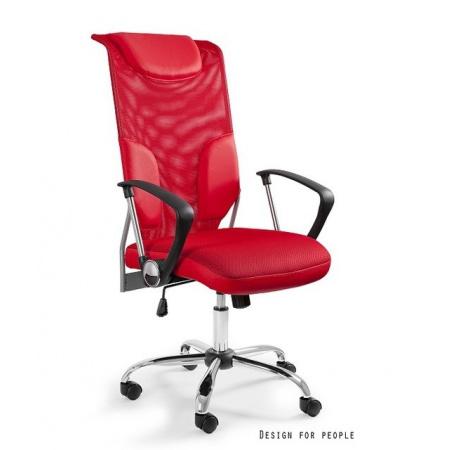 Unique Thunder Fotel biurowy, czerwony W-58-2