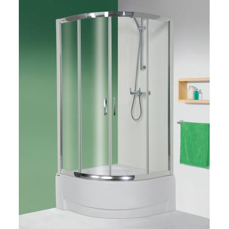 Sanplast TX kpl-KP4/TX5A Kabina prysznicowa narożna 90x90x202 cm, srebrny błyszczący Sitodruk W15 602-270-0362-38-230