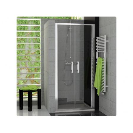 Ronal Top-Line Drzwi prysznicowe dwuczęściowe - 80 x 190cm Chrom Szkło Master Carre (TOPP208005030)