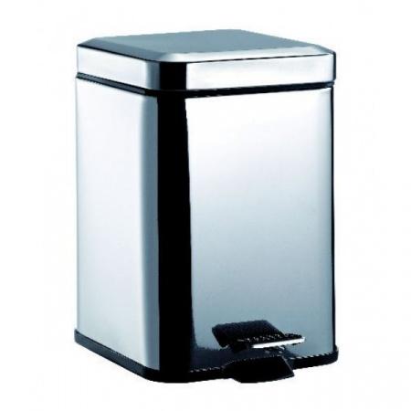 Emco System 2 Kosz na śmieci z pokrywą 19,2x24,8x28 cm, stalowy 355300005