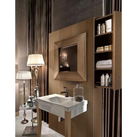 Kerasan Bentley Drewniany panel do umywalki z szufladą 140 cm, ciemne drewno 917247