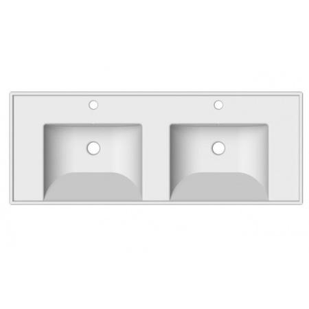 Scarabeo ML Umywalka wisząca lub wpuszczana w blat 122x47x16,5 cm, biała 3006