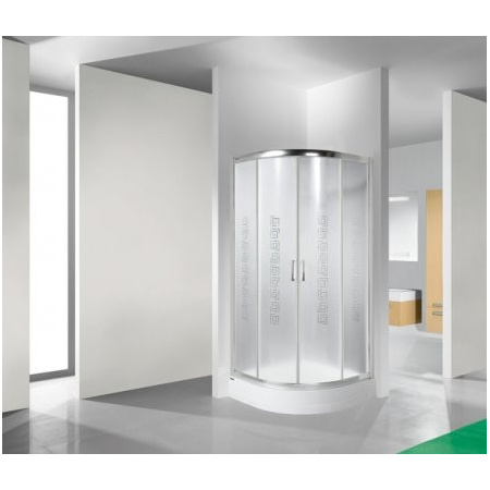 Sanplast TX KP4/TX4+BPza Kabina prysznicowa narożna - 80/80/202 srebrny błyszczący Szkło przezroczyste 602-270-0051-38-400