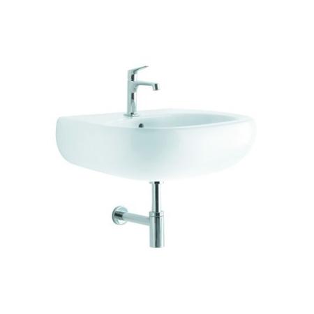 Koło umywalka OVUM by Antonio Citterio 70 cm z otworem, z przelewem Biały (L41170)