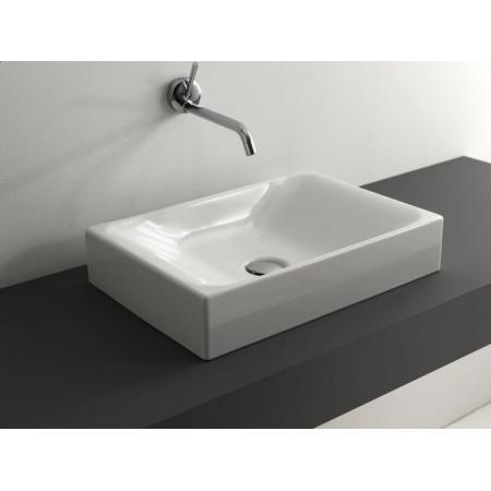 Kerasan Cento Umywalka nablatowa 50x35 cm biała 3555