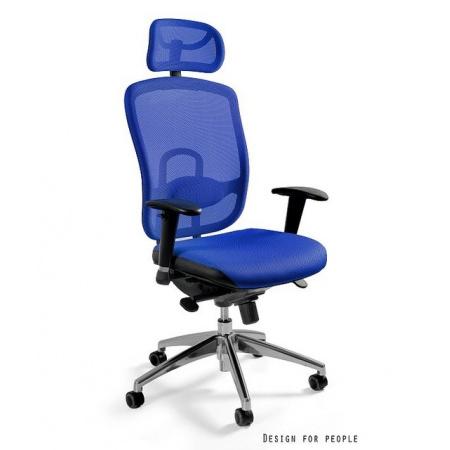 Unique Vip Fotel biurowy, niebieski W-80-7