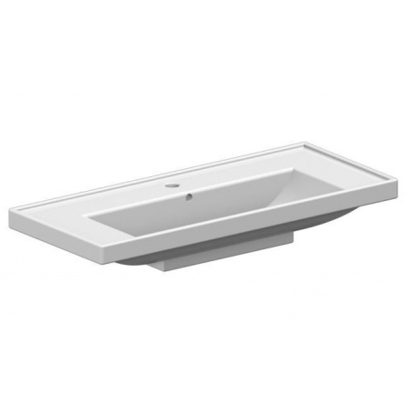 Scarabeo ML Umywalka wisząca lub wpuszczana w blat 92x39x16,5 cm, biała 3002