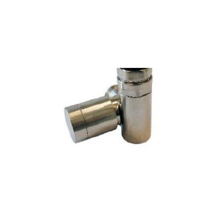 Schlosser Zawór grzejnikowy do grzałki elektrycznej z pokrętłem - prawy stal ze złączką na PEX (604900070)