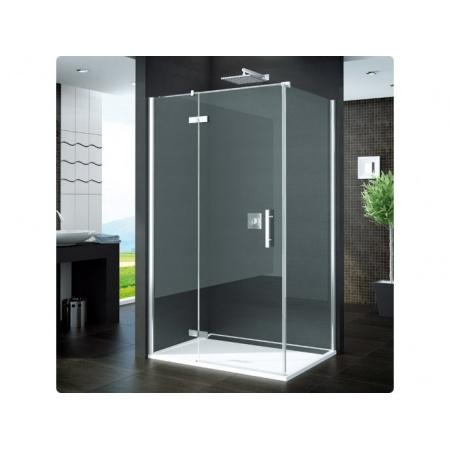 Ronal Pur Ścianka prysznicowa boczna - 80 x 200cm Chrom Pas satynowy poziomy (PUDT2P0801051-01)