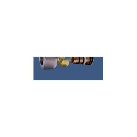 Schlosser Złączka zaciskowa do rury z tworzywa sztucznego GW M22x1,5 - 16x2 złoto mat (6026 00003.05)