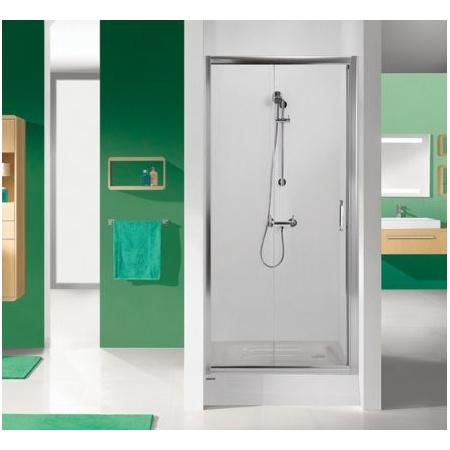 Sanplast TX DR/TX5 Drzwi prysznicowe - 120/190 srebrny matowy Szkło przezroczyste 600-270-1120-39-400