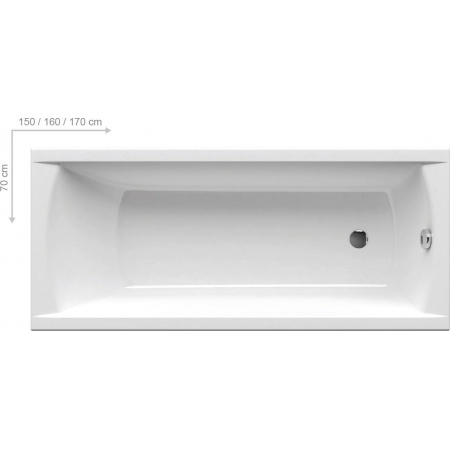 Ravak Inspiration Classic Wanna prostokątna 150x70x43,5 cm akrylowa biała C521000000