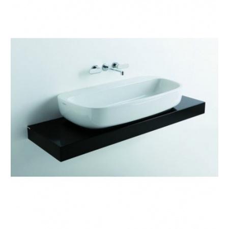 Flaminia Mono Półka do umywalki 120-250x46x10cm, ciemny dąb F6MN100
