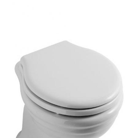 Globo Paestum Deska wolnoopadająca, biała, zawiasy chrom PA138