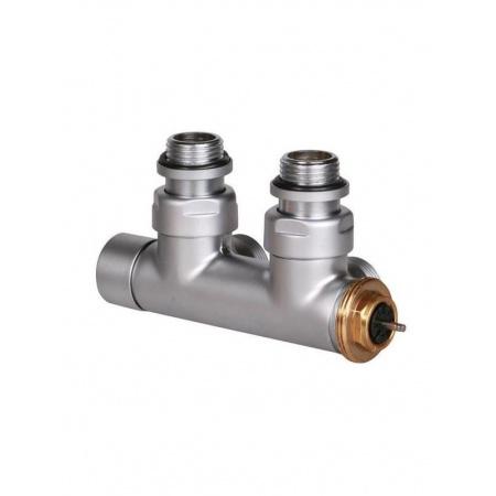 Terma Technologie Zawór termostatyczny 50 mm kątowy 90 stopni lewy, satyna TGZTST005