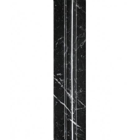 Villeroy & Boch New Tradition Listwa ścienna 7x30 cm, czarna lśniąca 1422ML90