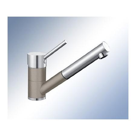 Blanco Antas-S Silgranit-Look Jednouchwytowa bateria kuchenna stojąca, jasnobrązowa, tartufo/chrom 517637