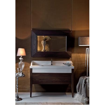 Kerasan Bentley Lustro z drewnianą ramą 80x100 cm, ciemne drewno 918047