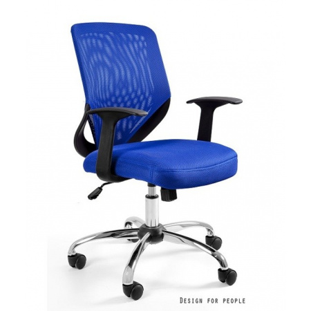 Unique Mobi Fotel biurowy niebieski W-95-7
