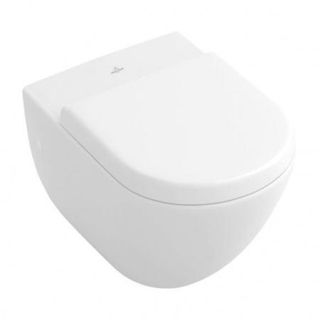 Villeroy & Boch Subway Toaleta WC podwieszana 37x56 cm z półką, z powłoką CeramicPlus, biała Weiss Alpin 660310R1