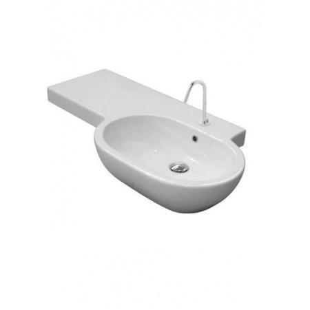 Globo Bowl Umywalka meblowa prawa 100x52cm, biała SC100S.BI