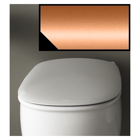 Art Ceram Azuley Deska wolnoopadająca 36x52 cm, czarna, zawiasy brąz AZA00103;72