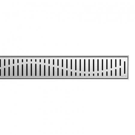 ACO ShowerDrain E+, E, M Wave Ruszt do odpływu liniowego ze stali nierdzewnej 70 cm, stalowy 0153.73.42