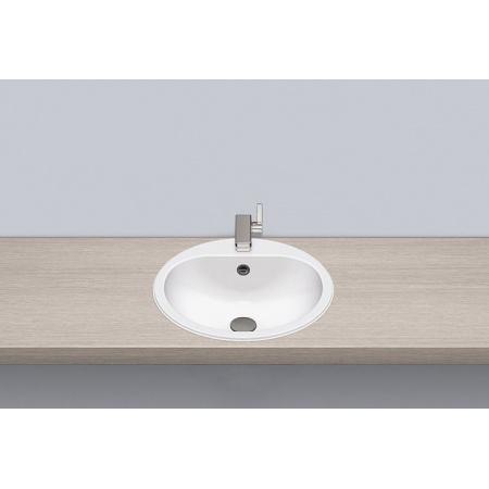 Alape EW 3.2 Umywalka wpuszczana w blat 47,5x47,5x17,7 cm obustronnie glazurowana, biała 2018000000
