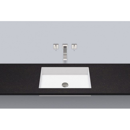 Alape FB.ME500 Umywalka wpuszczana w blat 52x39,5x11,1 cm bez otworu na baterię, biała 2442503000