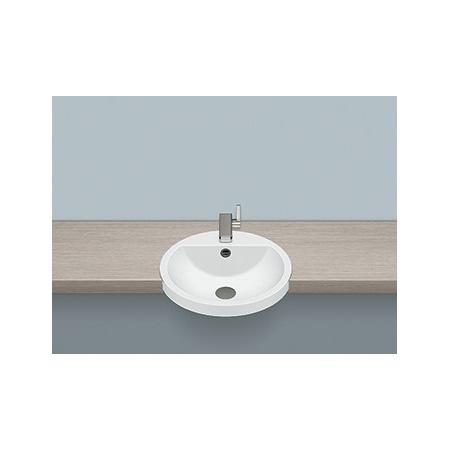 Alape HB.S450H Umywalka półblatowa 45x45x15,4 cm, biała 2900000000