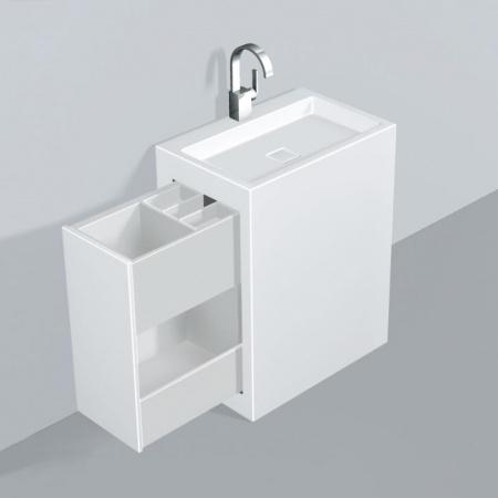 Alape WP.INS1 Zestaw Umywalka z szafką wysuwaną w lewo, biała 5225000000