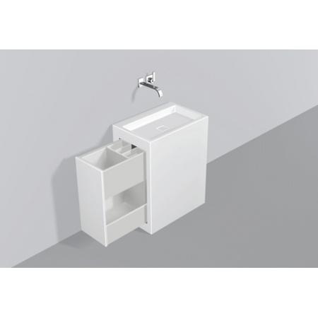 Alape WP.INS3 Zestaw Umywalka z szafką wysuwaną w lewo, biała 5227000000