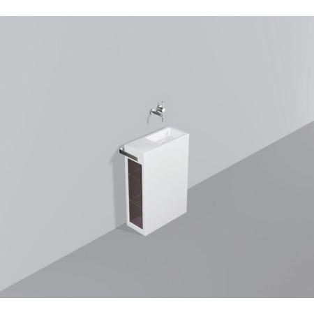 Alape WP.INS8 Zestaw Umywalka z szafką i wieszakiem po lewej stronie, biała 5232000000