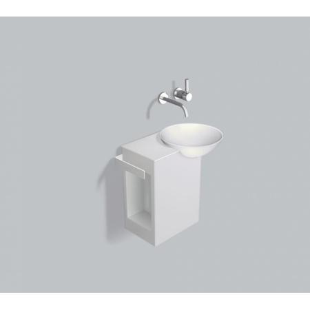 Alape WP.Insert4 Zestaw Umywalka z szafką i wieszakiem po lewej stronie, biała 5244000000