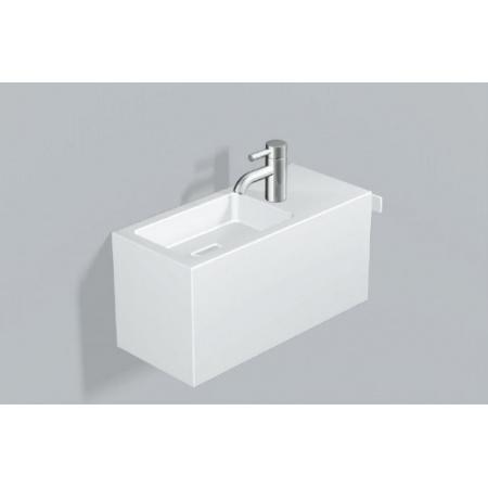 Alape WP.XS1 Zestaw Umywalka z szafką i wieszakiem po prawej stronie, biała 5072800000