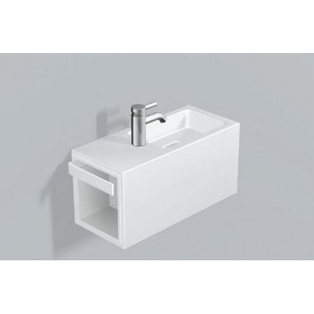Alape WP.XS2 Zestaw Umywalka z szafką i wieszakiem po lewej stronie, biała 5075800000