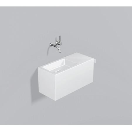 Alape WP.XS3 Zestaw Umywalka z szafką i wieszakiem po prawej stronie, biała 5072500000