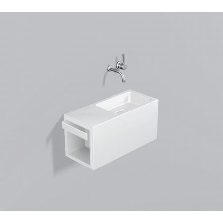 Alape WP.XS4 Zestaw Umywalka z szafką i wieszakiem po lewej stronie, biała 5075500000