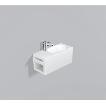 Alape WP.XXS2 Zestaw Umywalka z szafką i wieszakiem po lewej stronie, biała 5065800000