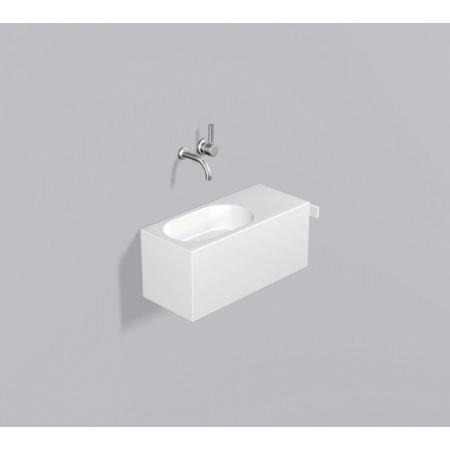 Alape WP.XXS3 Zestaw Umywalka z szafką i wieszakiem po prawej stronie, biała 5062500000